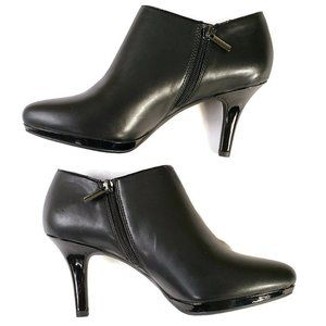 Bandolino Ankle Booties Black Leather Size 8.5 M